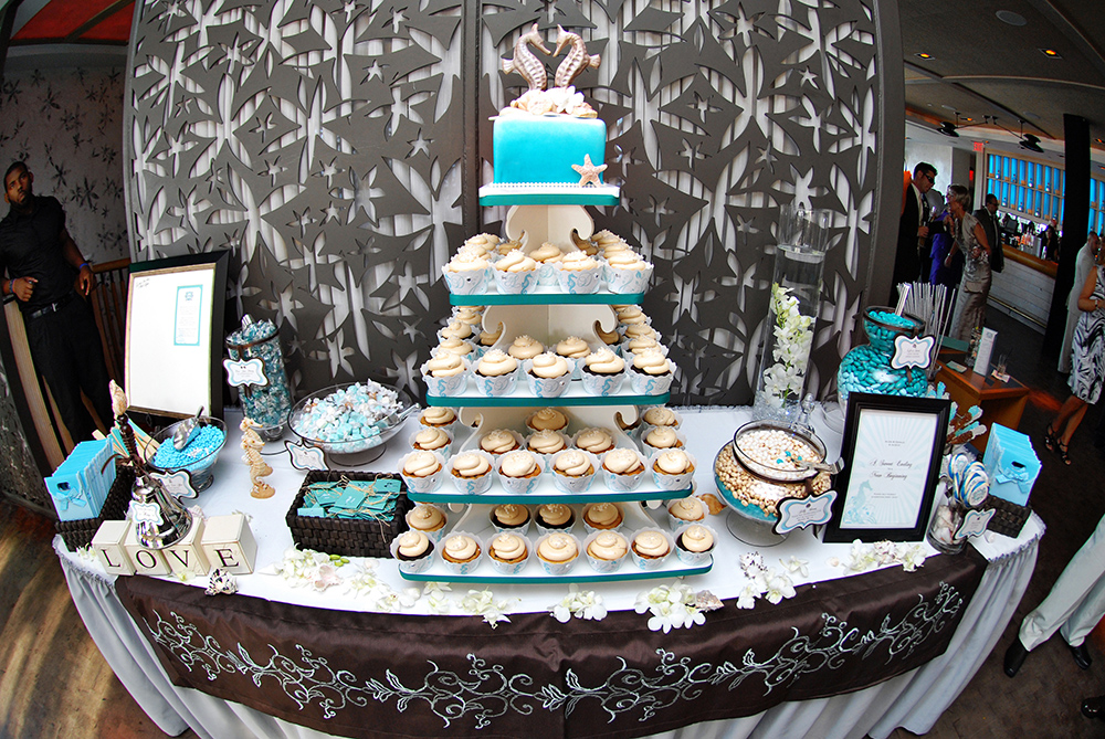 beach themed wedding cake table theme ten the loft 11152