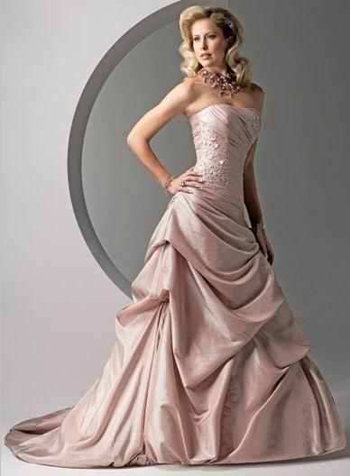 coloured wedding dresses glamorous bridesmaids