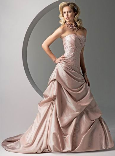 Incorporating color into your wedding dress the party loft for The loft wedding dresses